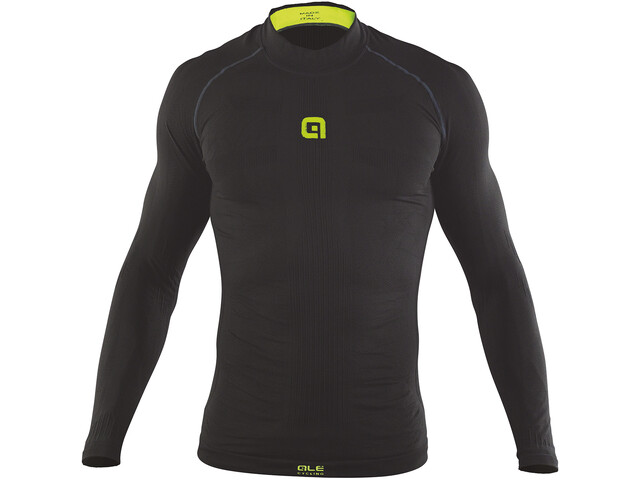 Alé Cycling Intimo Seamless S1 Carbon Maillot Hombre, black